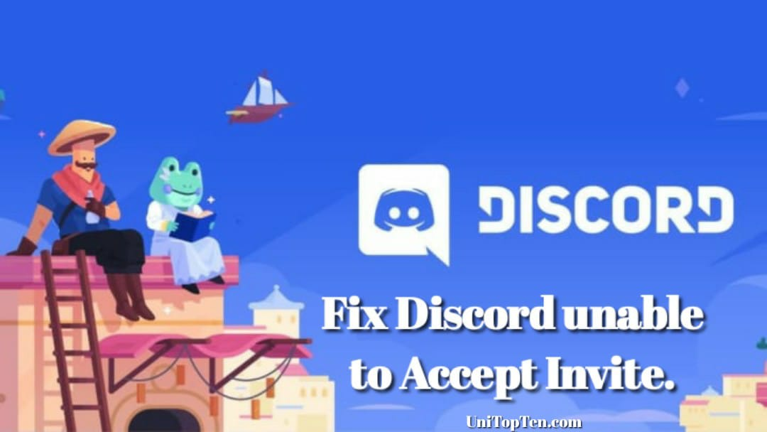 Discord whoops unable to accept invite