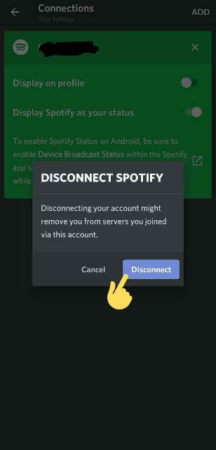How to disconnect Spotify on Discord