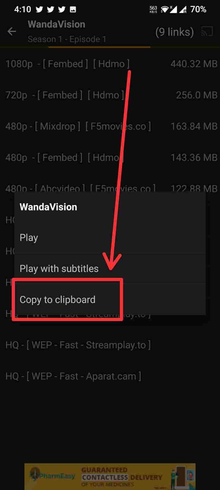 Download subtitles failed Tea TV
