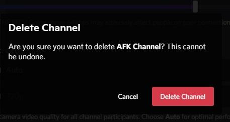delete Voice Channel in DiscordPC