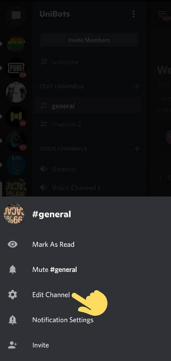 How to set emoji in Discord Channel description Mobile