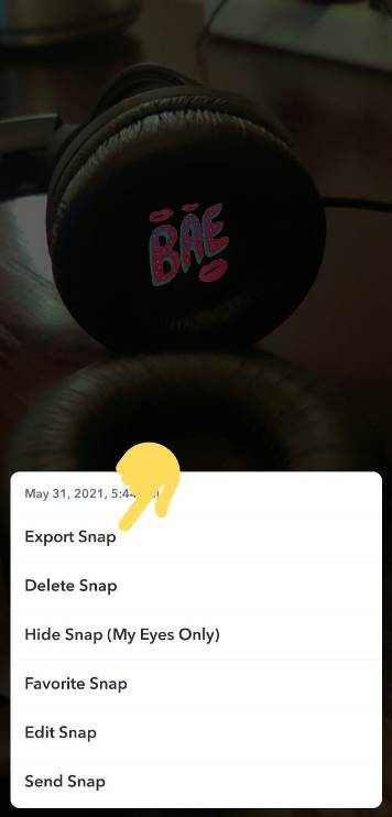 Save Snapchat photos to gallery