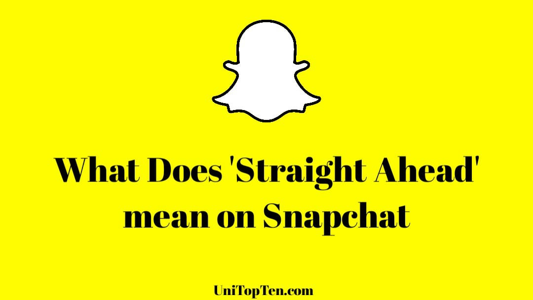 Straight Ahead meaning on Snapchat compass