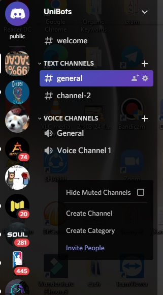create AFK Channel in Discord PC