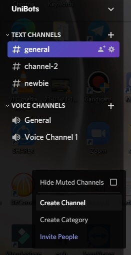 create Welcome Channel in Discord pc