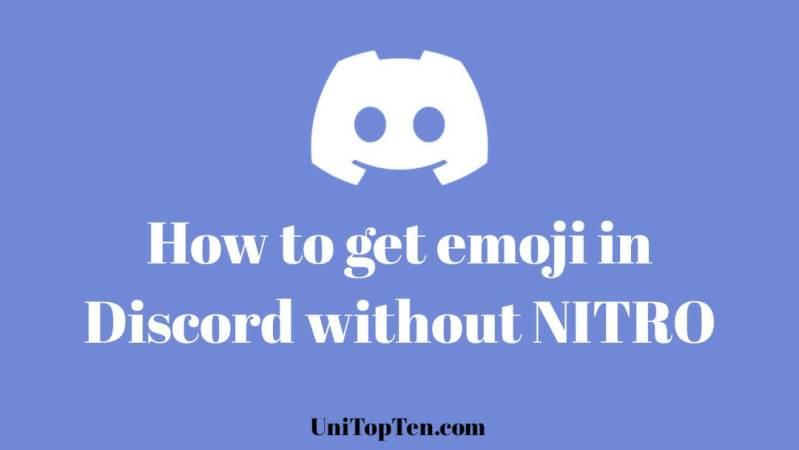 get emoji in Discord wihtout Nitro