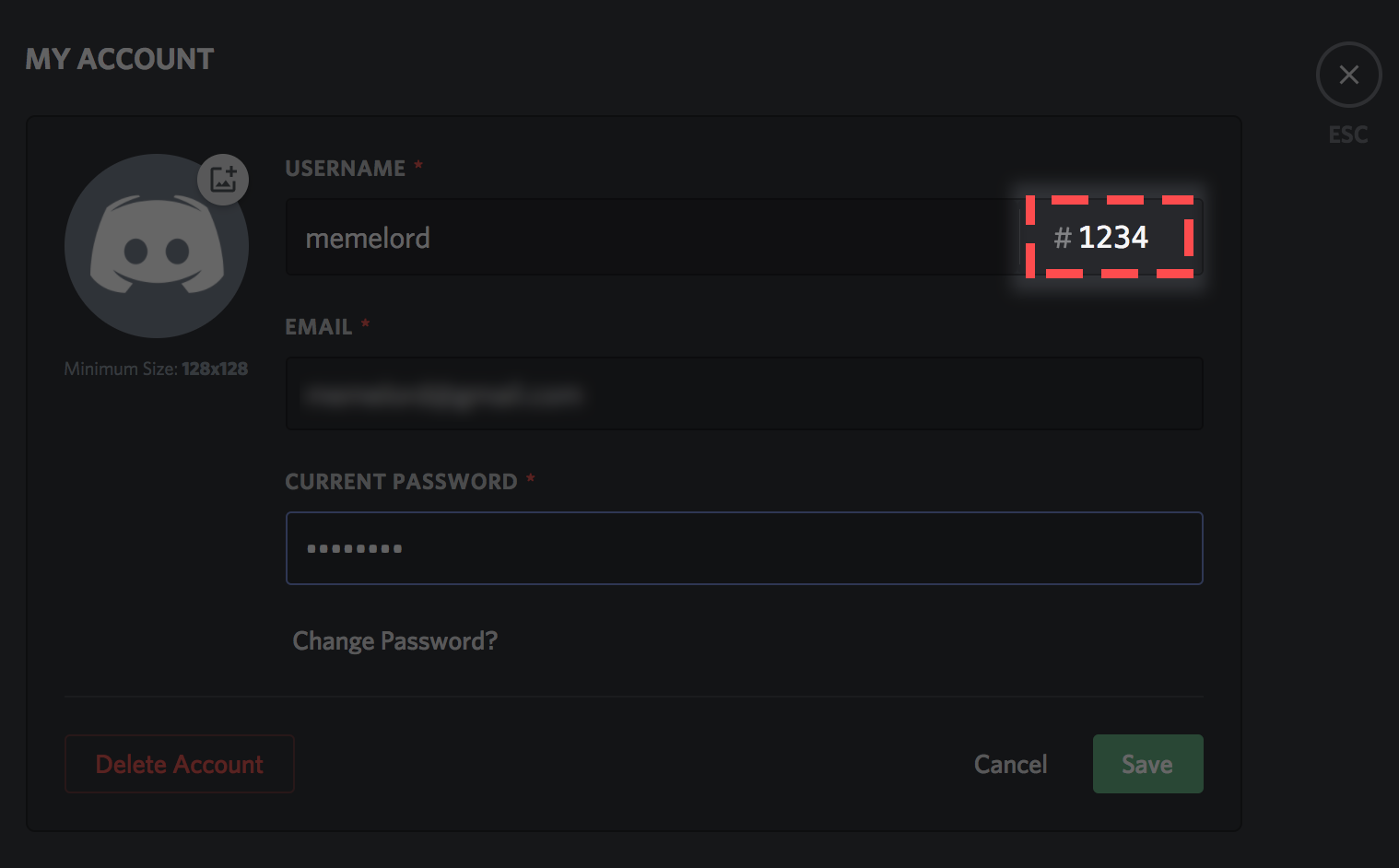 Change Discord Tag if you have a Discord Nitro subscription