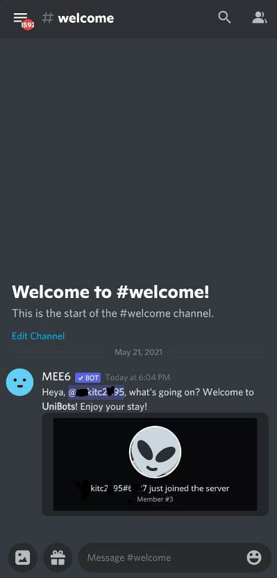 set auto Welcome Message in Discord