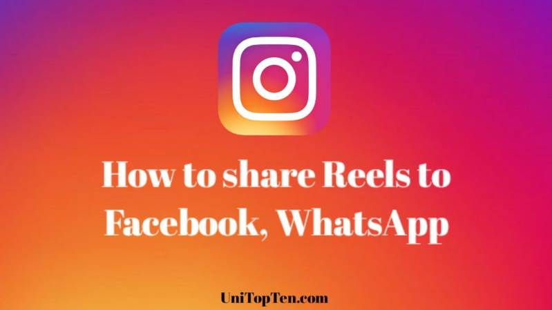 share Reels to Facebook f5