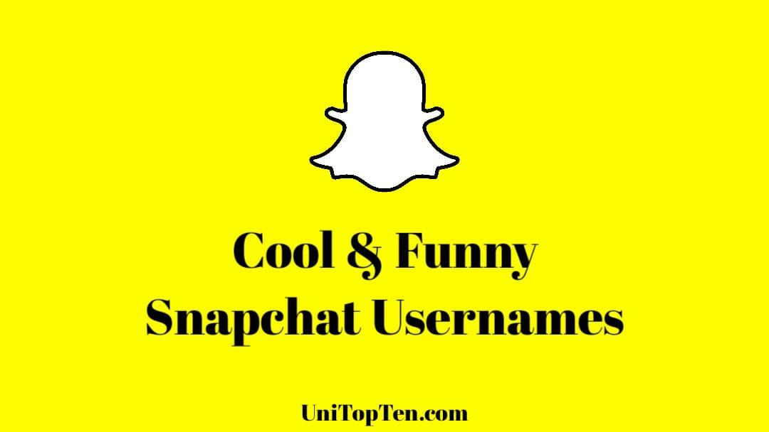 Cool Snapchat Username