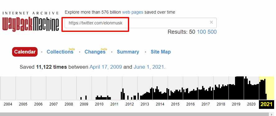 View or see deleted tweets on twitter using Wayback machine