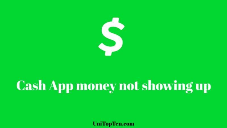 Cash App money not showing up