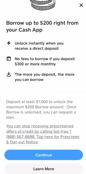 How to get loan from Cash App