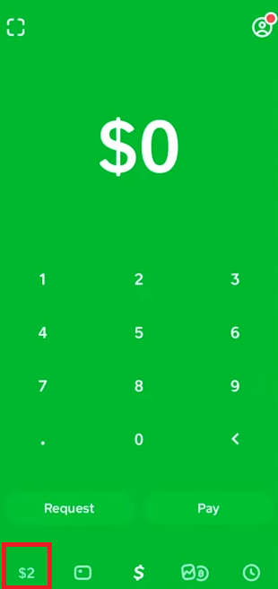 Banking Tab Cash App