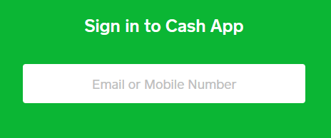 Sign in to Cash App via browser