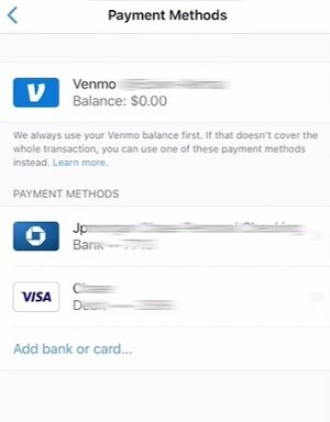 How to remove card from Venmo