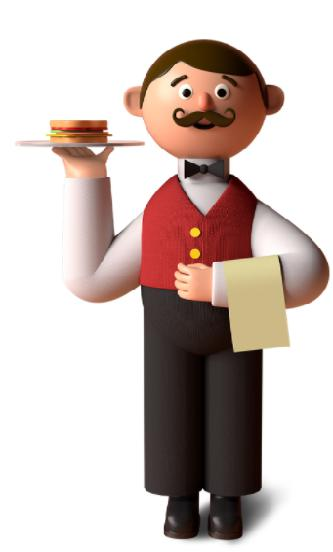 Man with food plate