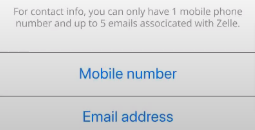 your Email and Phone number will be your Zelle ID