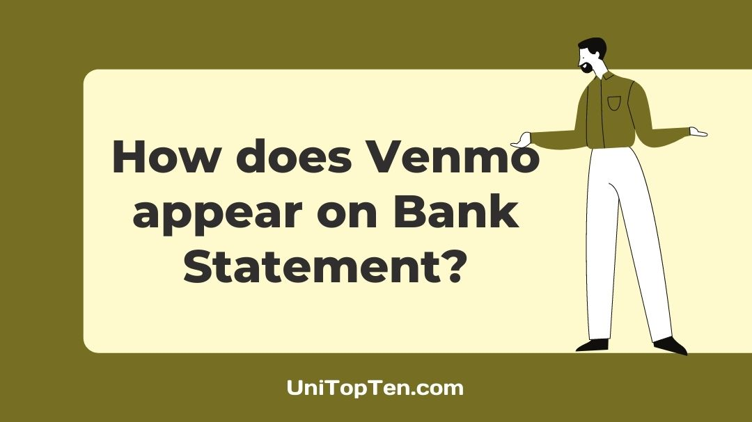 How does Venmo appear on Bank Statement